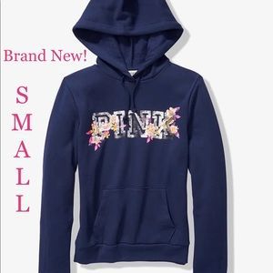 Vs Pink Sequin Bling Pullover SMALL